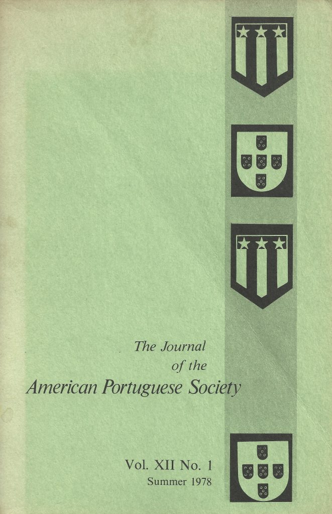 The Journal of the American Portuguese Society, Summer 1978