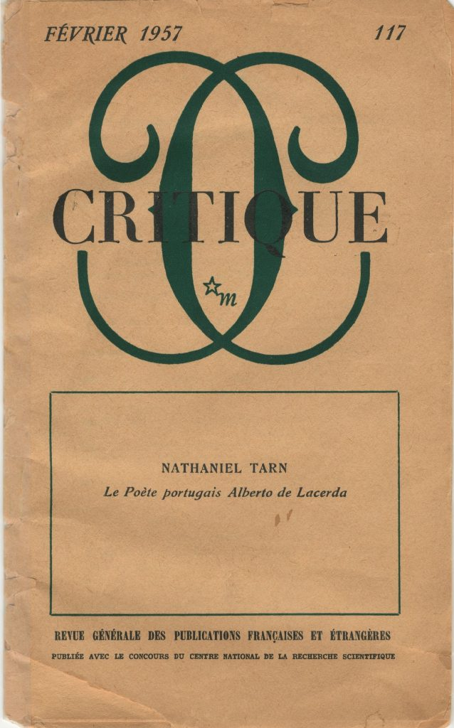 Offprint of Critique, February 1957
