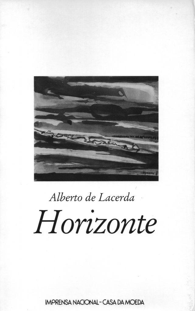 Horizonte, cover by Arpad Szenes. Lisbon: Imprensa Nacional-Casa da Moeda, 2001