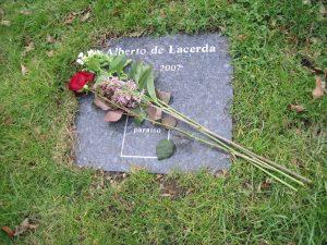 Alberto de Lacerda's memorial stone, Brompton Cemetery