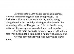 Darkness is total