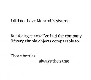 I did not have Morandi's sisters
