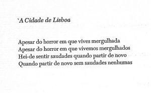 À cidade de Lisboa