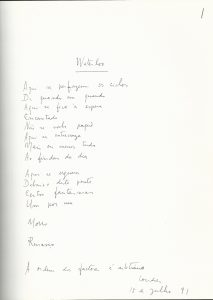 "Manuscript of ""Waterloo"""