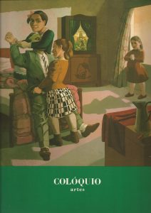"Colóquio Artes, Fundação Calouste Gulbenkian, Lisbon, No. 83, December 1989, cover by Paula Rego, The Family, 1988. Includes ""Paula Rego e Londres"" by Alberto de Lacerda"