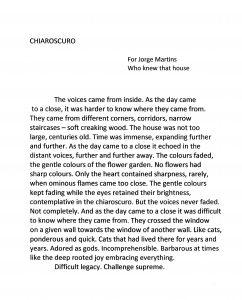 Chiaroscuro (English)