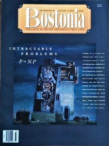 "Bostonia, Boston University, Fall 1993, cover by Walter Tandy Murch, The Calculator, c. 1949. Includes ""British Watercolors - A Major Reappraisal"" by Alberto de Lacerda, pp. 52-57"