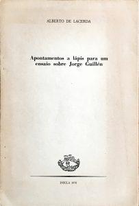 """Offprint from Insula, Madrid, 1978. """"Apontamentos a lápis para um ensaio sobre Jorge Guillén"""" byAlberto de Lacerda"""