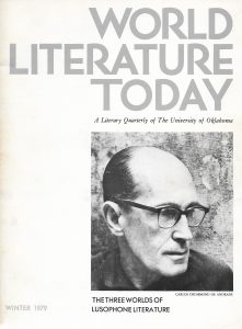 "World Literature Today, A Literary Quarterly of The University of Oklahoma, Vol. 53, No. 1, Winter 1979, cover photograph of Carlos Drummond de Andrade, courtesy of José. Includes ""Two Poems from Midday"" by Alberto de Lacerda translated by the author and David Wevill, p. 63"