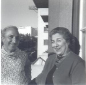 With Maria da Graça Amado da Cunha, Portugal, 1970s