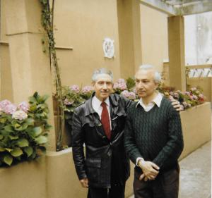 With Luís Amaro, Lisbon, 1970s