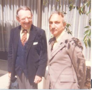 With I.F. Stone, Washington, DC, 1982