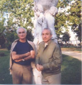 With Cruzeiro Seixas, Portugal, 1983