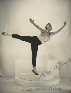 Signed photograph of Kyra Nijinsky