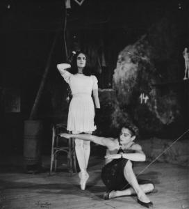 """Nathalie Philippart and Jean Babilée in """"Le Jeune Homme et la Mort"""", Ballet des Champs-Elysées"""