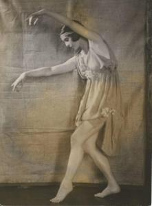 Nina Valois dancing in the Diaghilev Ballet in the London Coliseum