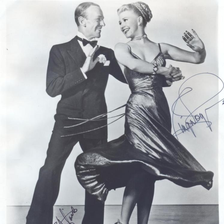 Signed photograph of Fred Astaire and Ginger Rogers