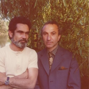 With Fernando Bettencourt, London, 1975