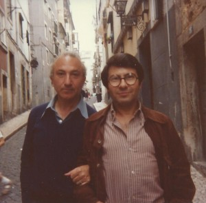With Manuel Baptista, Lisbon, 1981