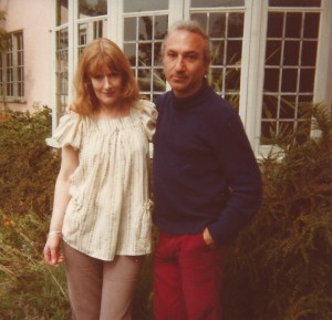 With Anne Beresford, Suffolk, England, 1978