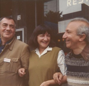 With Vasco Popa and Hascha, Rotterdam, 1982