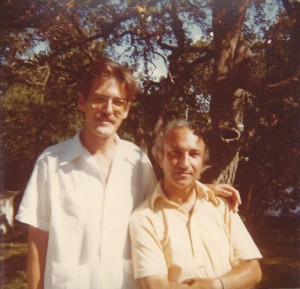 With Ralph Niebuhr, Austin, 1976