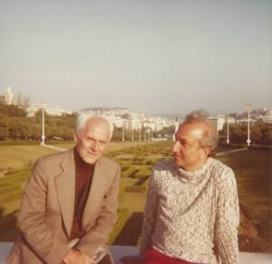 With Mário Cesariny, Lisbon, 1978