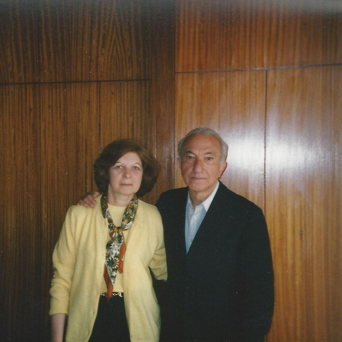 With Maria do Rosário de Sousa, Porto, 1998