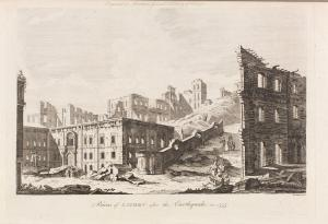Ruins of Lisbon after the earthquake in 1755