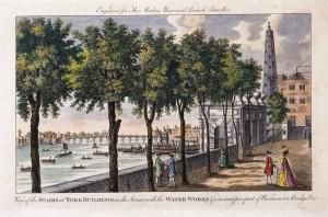 York Buildings and Westminster Bridge, 19th Century