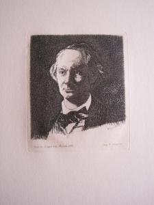 Edouard Manet (France, 1832-1883) Charles Baudelaire, de face, 1869