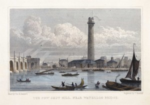 The New Shot Mill, near Waterloo Bridge, 17th Century