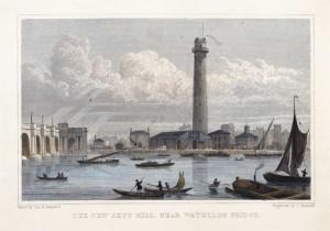 The New Shot Mill, near Waterloo Bridge, 17th Century