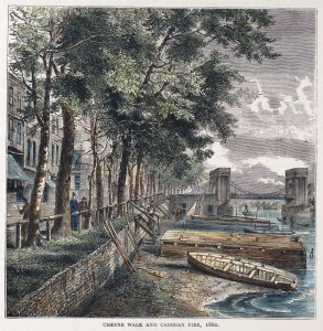 Cheyne Walk and Cadogan Pier, 1860