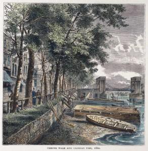 Cheyne Walk and Cadogan Pier, 1860