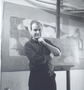 Adrien de Menasce in his studio, Chelsea