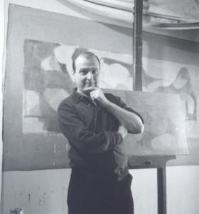 Adrien de Menasce in his studio, Chelsea
