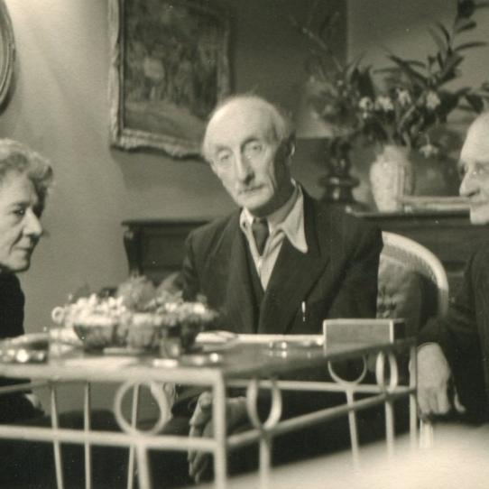Nora Wydenbruck, Felix Braun and Alfons Purtscher, London, 1956