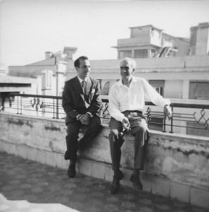 With José Almada Negreiros, Lisbon, c. 1962
