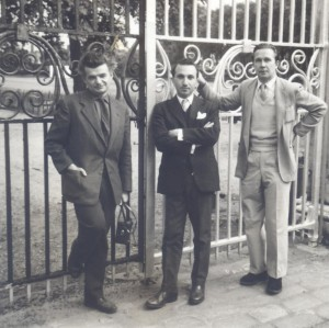 With Yves Bonnefoy and Christopher Middleton, London, 1961