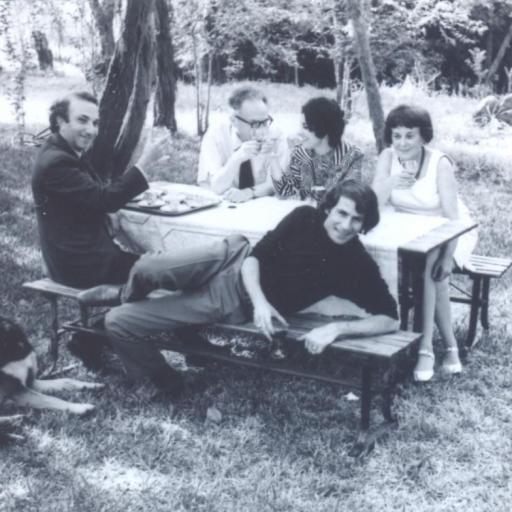 With Roman Jakobson, Electra Cardona, Svatava Jakobson and Paul Schmidt, Austin, c. 1969