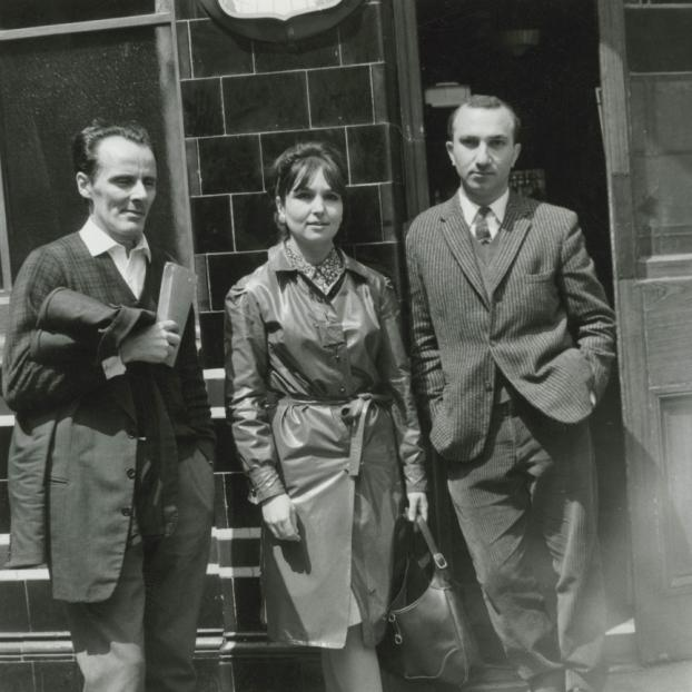 With Mário Cesariny and Paula Rego, London, 1964