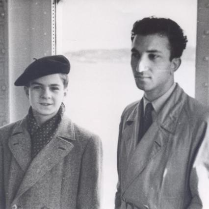 With Pierino Gamba, Conductor, Lisbon, 1949