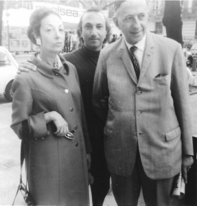 With Saudade Cortesão and Murilo Mendes, London, 1970