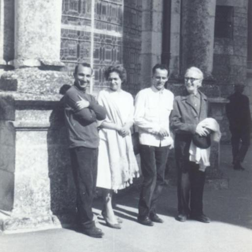 With Vieira da Silva, Mário Cesariny and Arpad Szenes, Chataux do Loire, France, 1964