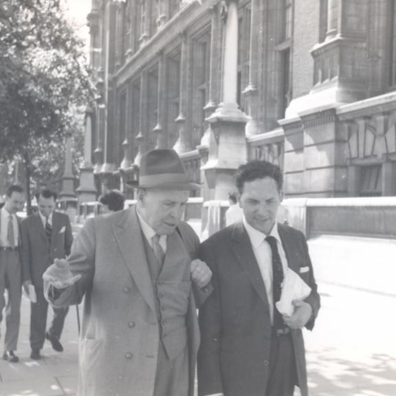With Aquilino Ribeiro and Luís de Sousa Rebelo, London, 1950s