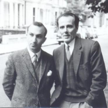 With Mário Cesariny, London, 1964