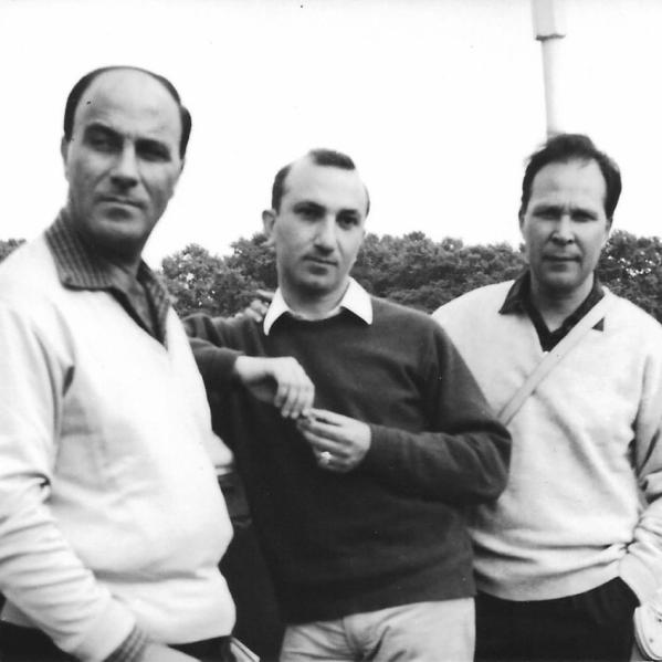 With Adrien de Menasce and Eugénio de Andrade, London, 1967