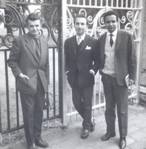 With Yves Bonnefoy and Jean Fanchette, London, 1961