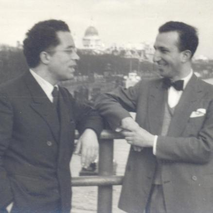 With Fernando Lopes Graça, London, 1955
